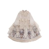 choker-rabbit Lolita洛丽塔 娃娃屋系列 女士OP有袖连衣裙 生成色 S