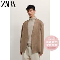 ZARA  03548640711 男士仿麂皮反绒西装外套
