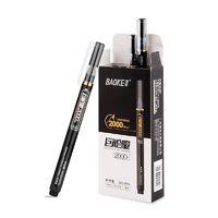 BAOKE 宝克 PC3828 巨能量中性笔 0.5mm 黑色 12支装