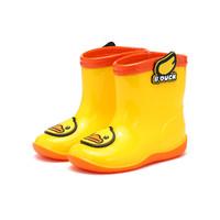 B.Duck 小黄鸭四季翅膀装饰雨靴卡通点缀儿童雨鞋男女童宝宝小童防水鞋