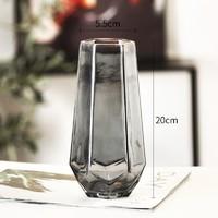 喜韶 北欧简约创意玻璃花瓶 20*5.5cm