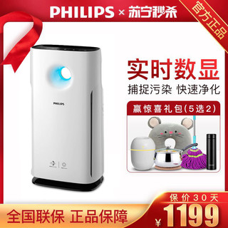 飞利浦(Philips) 空气净化器AC3256空气净化器家用除甲醛PM2.5抗雾霾三重过滤模式 颗粒物CADR值400