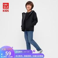 优衣库 童装/男童/女童 高弹力牛仔修身长裤(水洗产品) 424479