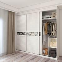 意風家具 推拉門衣柜定制 現代簡約臥室衣柜木質 整體趟門