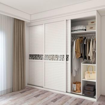 意风家具 推拉门衣柜定制 现代简约卧室衣柜木质 整体趟门