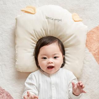 威尔贝鲁(WELLBER)婴儿枕头0-1岁定型枕四季通用新生儿防偏头矫正纠正宝宝护头型米色款
