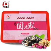 膠城 阿膠糕山東東阿原產即食固元膏阿嬌膏片塊 玫瑰阿膠糕450g/盒 *3件