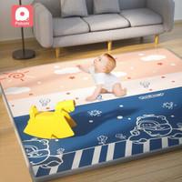 pababi 帕巴比 婴儿宝宝加厚xpe整张防滑地垫 奇趣冒险+印象帕比 150*180*1cm
