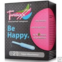 Tmaxx 体美丝 导管式无香型卫生棉条  量大型 20支装 *2件