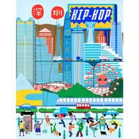 艺术品: Decue Wu 插画时尚作品 《深圳hiphop》28×35.5cm *3件