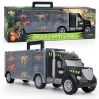 贝利雅 恐龙收纳货柜车  6只恐龙