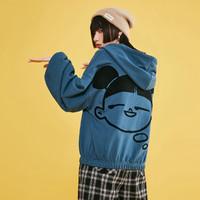 樂町拉鏈衛衣外套2021春季新款雙色運動風衛衣外套女寬松