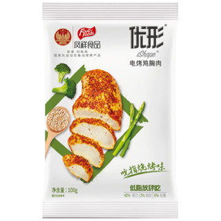 ishape 优形 电烤鸡胸肉 烧烤味 100g*6袋