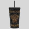 VERSACE 范思哲 ZTMUG0001-ZAL00001-1 美杜莎镶嵌旅行杯 黑色