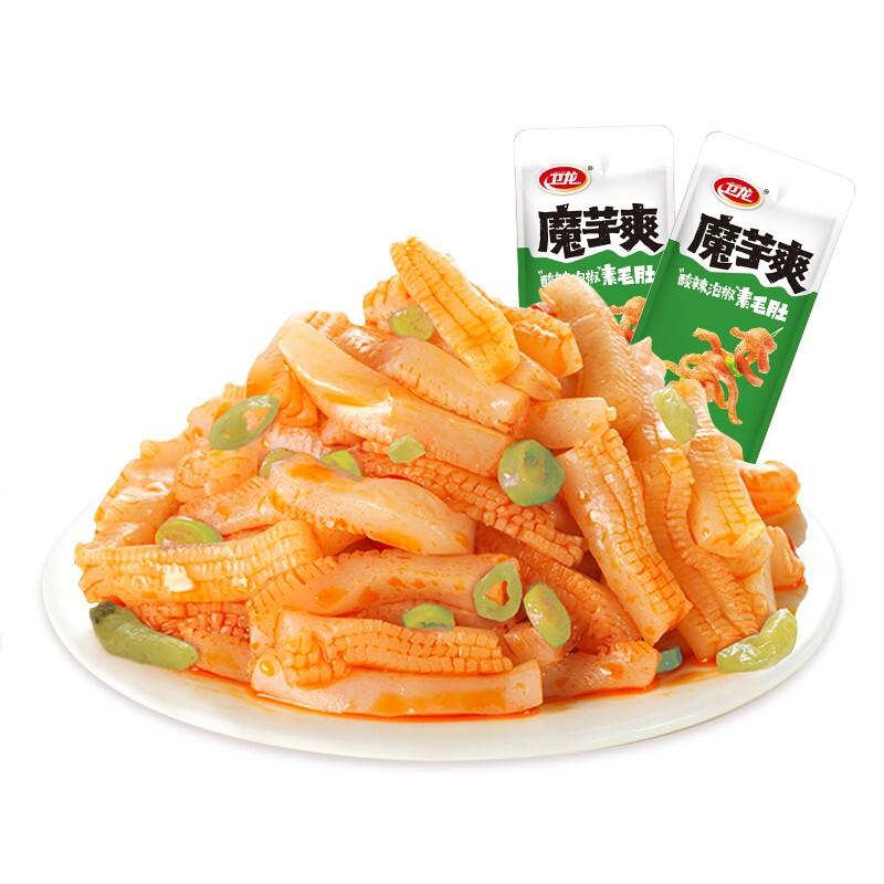 WeiLong 卫龙 辣条魔芋爽酸辣味180g素毛肚小吃办公室休闲零食儿时怀旧麻辣