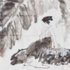 【西泠印社】黃鎮中國畫《春思圖》書法字畫
