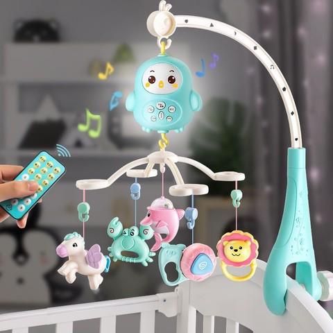 abay 婴儿玩具遥控旋转音乐床头铃摇铃
