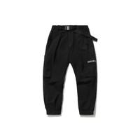 LI-NING 李宁 成龙功夫系列 男子运动长裤 AKXR085-1 黑色 S