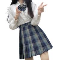 神仙club 青空之鸟 JK制服 女士格裙 青绿色