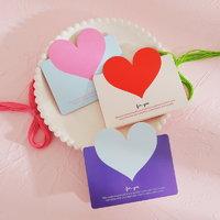 心形韩国创意生日立体感谢小卡片 情侣三八妇女女神节新年贺卡diy