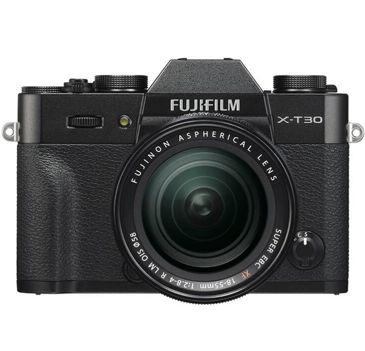 FUJIFILM 富士 X-T30 APS-C画幅 微单相机 黑色 XF 18-55mm F2.8 R LM OIS 变焦镜头 单头套机