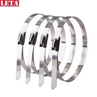 勒塔(LETA) 304不锈钢自锁扎带4.6×150mm(50根) 耐高低温腐蚀 铁路电信电网铭牌机械设备捆绑扎带LT-TK771