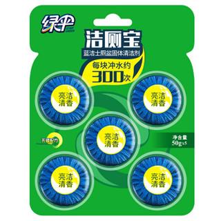 绿伞 蓝泡泡洁厕宝 茉莉花香50g*5 洁厕块 厕所马桶自动清洁去异味洁厕剂