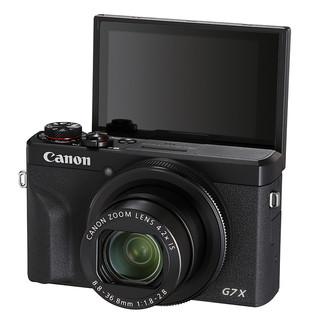 Canon 佳能 PowerShot G7X Mark III 1英寸数码相机 黑色(24-100mm等效焦段、F1.8-F2.8)