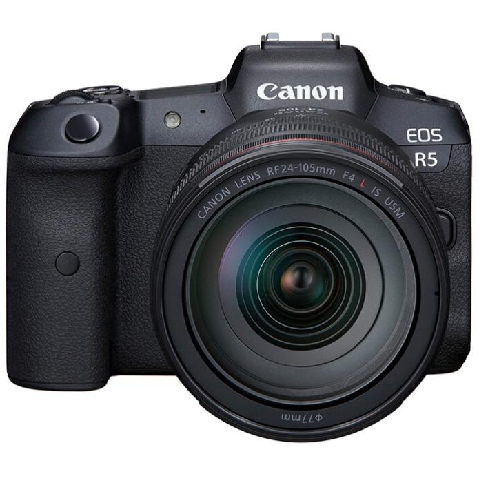 Canon 佳能 EOS R5 全画幅 微单相机 黑色 RF 24-105mm F4 L IS USM 变焦镜头 单头套机