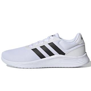 adidas 阿迪达斯  Lite Racer 2.0 男子跑鞋 EG3282 白黑 41