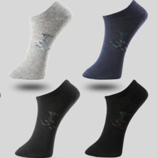 SEPTWOLVES 七匹狼 男士短袜套装 92563 6双装