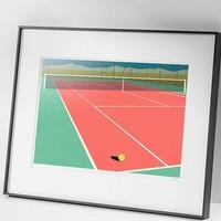 德国艺术家 Rosi Feist 《内华达网球场》Nevada Tennis Court II