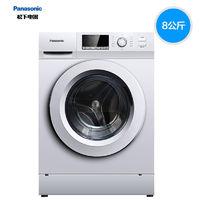 松下XQG80-J8022全自动滚筒洗衣机 90°C高温除菌免熨烫 8公斤 XQG80-J8022 银色