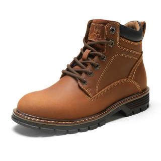 CAMEL 骆驼 男士牛皮工装鞋 A042329434 暗棕 38