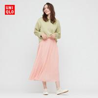 优衣库 女装 雪纺打褶长裙(半身裙) 433279 UNIQLO
