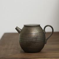 SUYI 素以 式粗陶手拉胚原矿铁釉小茶壶 200ML