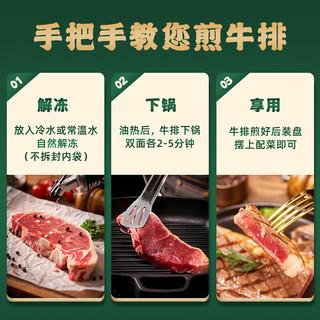 伊比夫 原切西冷牛排套餐8-10片1000g儿童整切静腌调理牛肉生鲜黄油黑胡椒