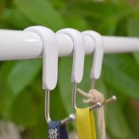 米木 光杆挂钩 厨房挂杆便利S钩 日式优雅S型挂钩 3款规格可选