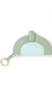 HAVMOON 拼色设计眼镜包  湖绿色