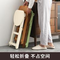 实木折叠凳子省空间家用折叠小板凳马扎便携折叠椅子厨房高餐椅