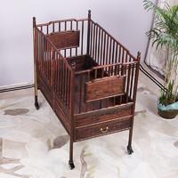 珠仙 zx-yec-0538 大红酸枝婴儿床