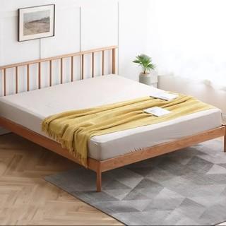 VISAWOOD 维莎原木 奈良系列 N0469 实木床 1350mm*2000mm 原木色