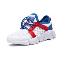 XTEP 特步 儿童休闲运动鞋  白兰红 28