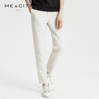 ME&CITY 548414 男装纯色棉麻休闲裤