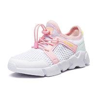 XTEP 特步 儿童休闲运动鞋 白粉红 28
