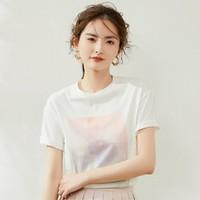 LOUIS YAO 白鹿语 YU210970100 女士天空渲染印花T恤
