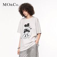 MO&Co. 摩安珂 MICKEY MOUSE合作系列 女士米奇印花短袖T恤 MBO3TEE011