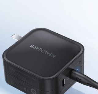 Ravpower 睿能宝 RP-CPCN001 手机充电器 Type-C 90WPD快充 + 双Type-C口 100W数据线 1.5m 星空黑