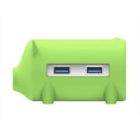 ORICO 奥睿科 H4018-U3 猪年纪念款 USB3.0 4口集线器 绿色