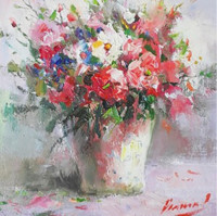 MO 俄罗斯伊戈尔油画系列《静物画5》原作无框 背景墙挂画